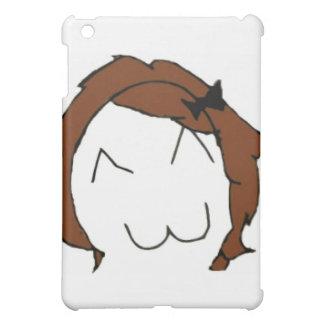 Stor leendetecknad Meme för brunett iPad Mini Mobil Skal