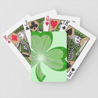 Stor leka kortgrönt för Shamrock Spelkort