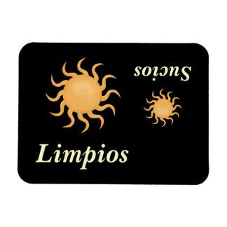 Stor & lite för sol gullig spansk diskare magnet
