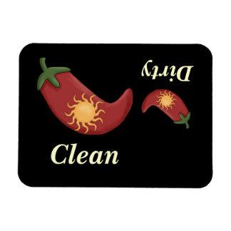 Stor & liten röd peppar & sol - diskaremagnet magnet
