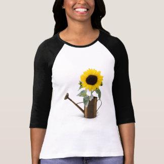 Stor ljus solrosskjorta för henne tröjor