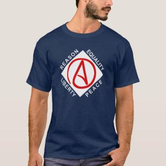 Stor logotypmanar för ateist t-skjorta t-shirt