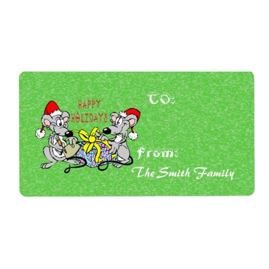 (Stor) märkre för julmusgåva, Fraktsedel