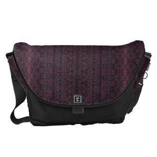 Stor messenger bag - Boho plommon/svart