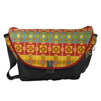 Stor messenger bag för Aztec mönster