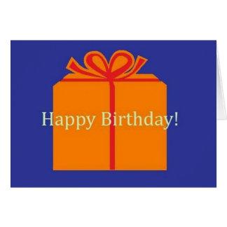 Stor närvarande grattis på födelsedagen hälsningskort
