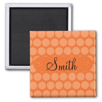 Stor orange polka dots för magnet