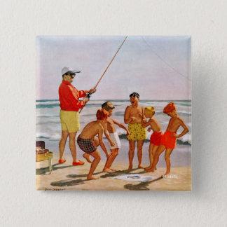 Stor Pole lite fisk av Richard Sargent Standard Kanpp Fyrkantig 5.1 Cm