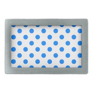 Stor polka dots - Azure på vit