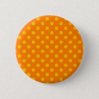 Stor polka dots - bärnsten på orangen standard knapp rund 5.7 cm