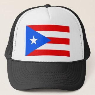 Stor Puerto Rican flagga Truckerkeps