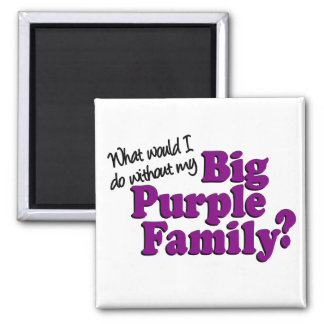 Stor purpurfärgad familjmagnet magnet