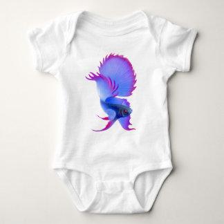 Stor ranka för spädbarn för blåttBetta fisk T Shirt