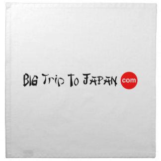 Stor resa till middagen för Japan trasaservetter Tygservett