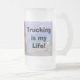 Stor rigglastbilsförare design för Lorry för Frostat Ölglas