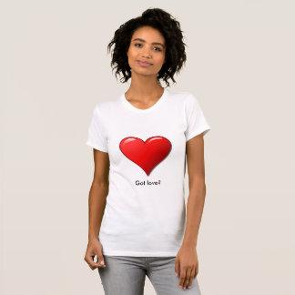 Stor röd hjärtakärlekskjorta t shirt