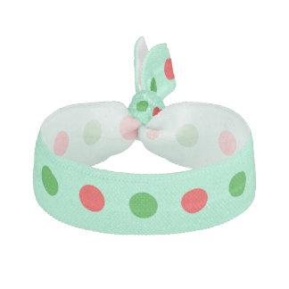 Stor röd och grön polka dots hårband