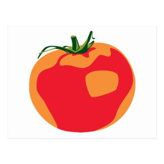 Stor röd tomat vykort