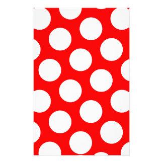 Stor röda och vitpolka dots brevpapper
