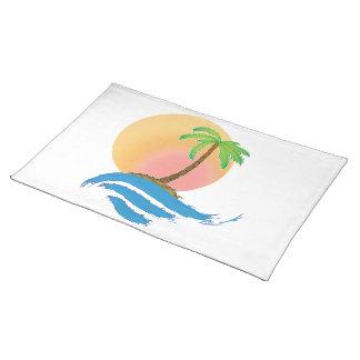 Stor sol, handflatan och surfa bordstablett
