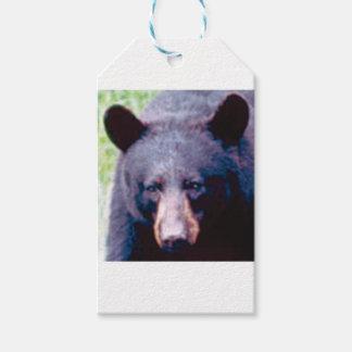 stor svart björn presentetikett