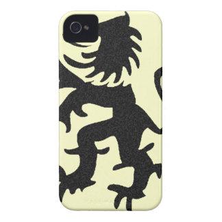 Stor våldsam lejon iphone case Case-Mate iPhone 4 skydd