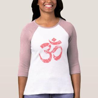 Stor Yoga för andlighet för GrungeOM-symbol T-shirt