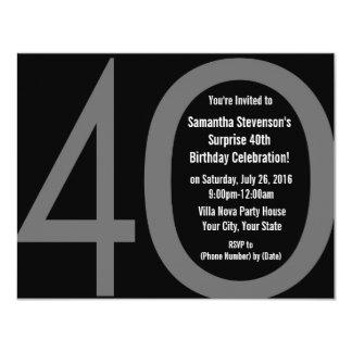 Stora 4-0 födelsedagsfest inbjudan 10,8 x 14 cm inbjudningskort