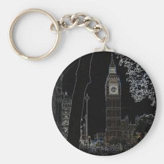 Stora Ben glöder Keychain Rund Nyckelring