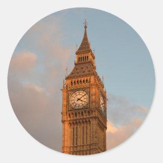 Stora Ben i London rundaklistermärke Runt Klistermärke