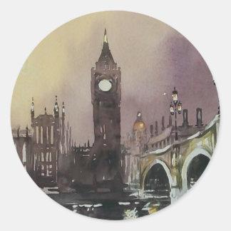 Stora Ben London England klistermärkear Runt Klistermärke