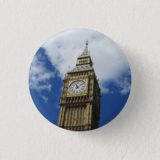 Stora Ben, London, England Mini Knapp Rund 3.2 Cm