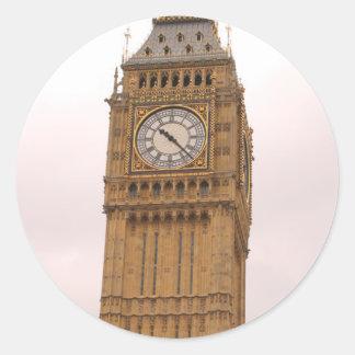 Stora Ben London England Runt Klistermärke
