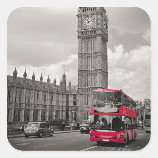 Stora Ben London Fyrkantigt Klistermärke