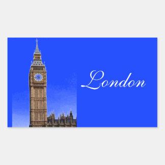 Stora Ben - London Rektangulärt Klistermärke