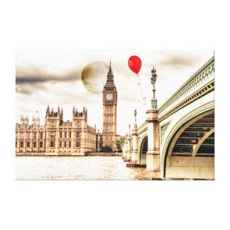 Stora Ben och den röda ballongen Canvastryck
