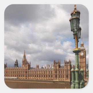 Stora Ben och hus av parlamentet i den London Fyrkantigt Klistermärke