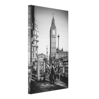 Stora Ben och parlamentet kvadrerar i London Canvastryck