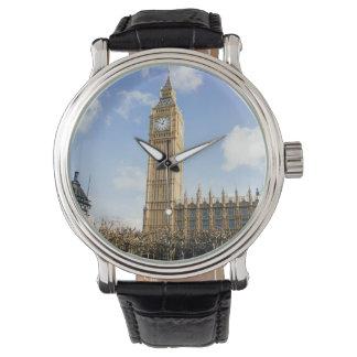 Stora Ben på en solig dag, London UK Armbandsur
