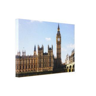 Stora Ben parlament och flod Thames Canvastryck
