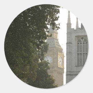 Stora Ben som kikar, London Runt Klistermärke