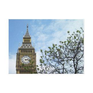 Stora Ben tar tid på torn London England Canvastryck