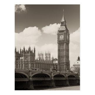 Stora Ben tar tid på torn London Vykort