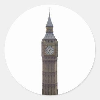 Stora Ben tar tid på torn: Runt Klistermärke