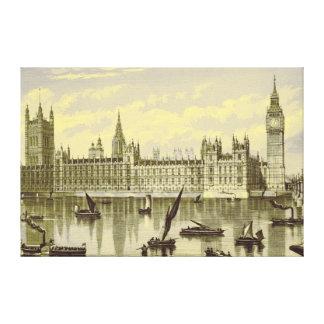 Stora Ben Thames Westminster för London parlament  Canvastryck