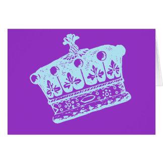 Stora blåttkrona- eller Coronetprodukter Hälsningskort