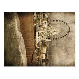 Stora Brighton rullar den åldriga vykortet Vykort