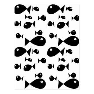 Stora fiskar vykort