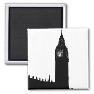 Stora grafisk Ben London England silhouette Magnet