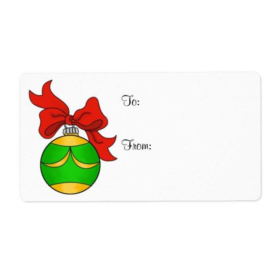 Stora grönt & guld- prydnad - gåvaetikett - fraktsedel